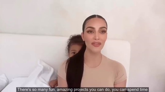 North West messes around as Kim Kardashian delivers a PSA about Social Distancing for the Governor of California.