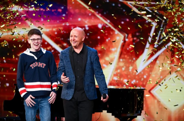 Jon Courtenay on Britain's Got Talent with his son Nathan.