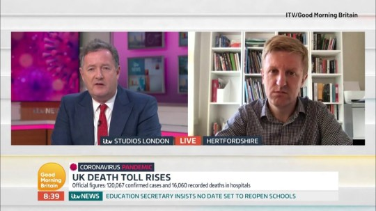 Piers Morgan lays into MP over lack of PPE for NHS staff