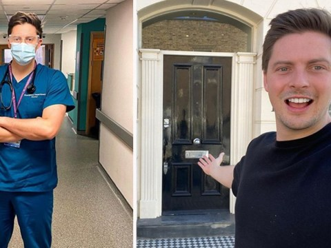 Love Island's Dr Alex George finds himself new home as he fights coronavirus pandemic on the frontline