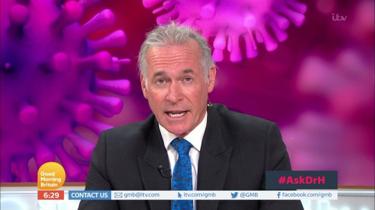 Good morning britain/lorraine and Dr Hilary talking about measures we need to make for coronavirus