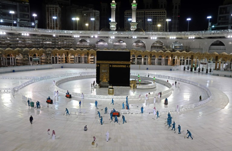 Deserted Mecca during Ramadan