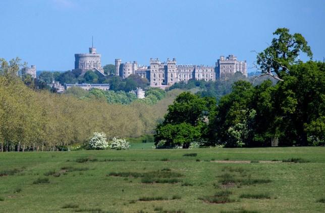 General view of Windsor Castle during the coronavirus lockdown