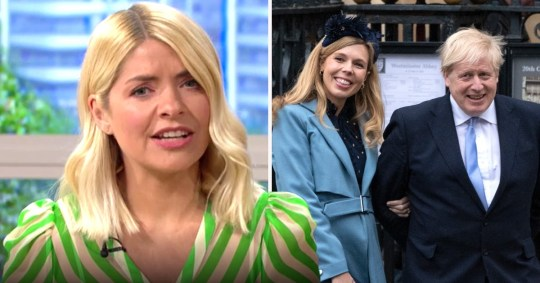 Holly Willoughby shocked by Boris Johnson news