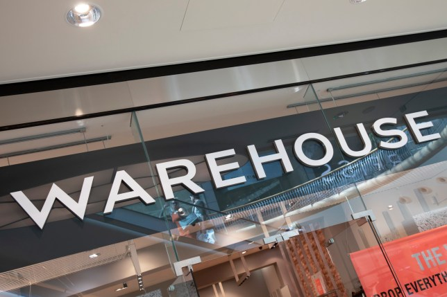 Sign For Clothing Brand Warehouse