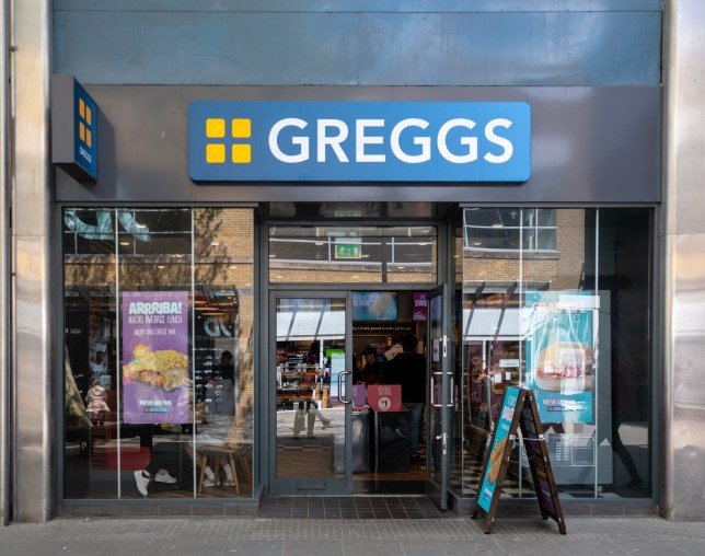 Swindon, United Kingdom - May 04 2019: The Frontage of Greggs Bakery in Canal Walk