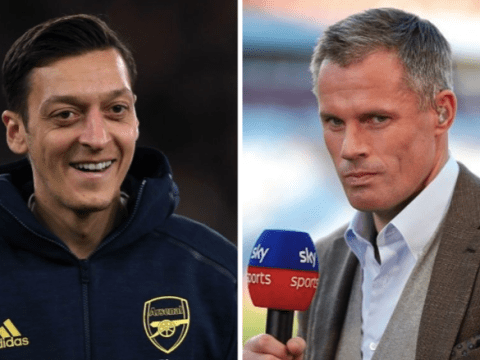 Jamie Carragher accuses Mesut Ozil of scoring 'massive own goal' by refusing to take pay cut at Arsenal