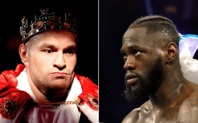 Tyson Fury and Deontay Wilder pic comp