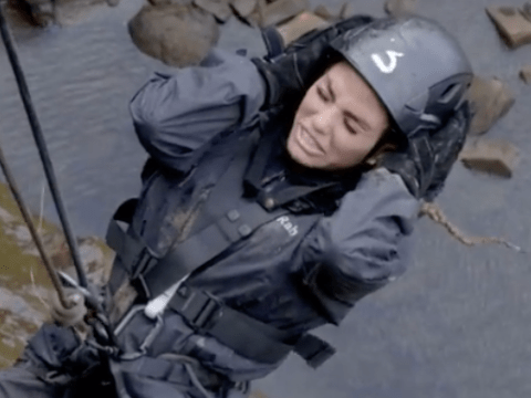 Celebrity SAS: Who Dares Wins: Katie Price shouts 'everyone f**k off' as she struggles with horrifying first challenge