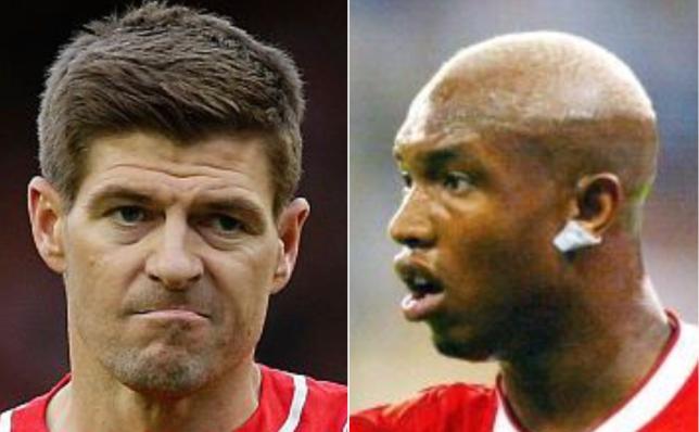 Pic comp of Steven Gerrard and El Hadji Diouf
