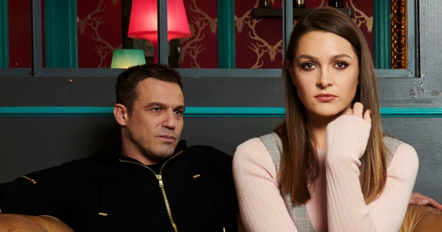 Sienna and Warren in Hollyoaks
