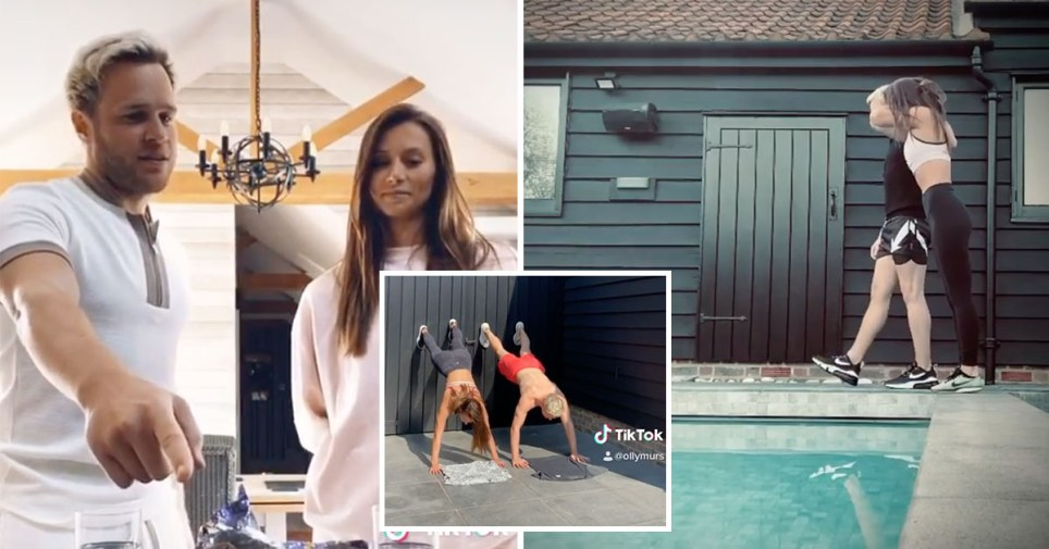 olly murs and girlfriend amelia tank in his home
