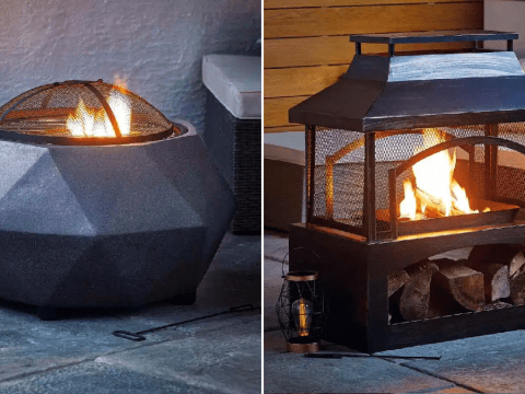 Aldi brings back last year's sell-out fire pit barbecues and outdoor log burners