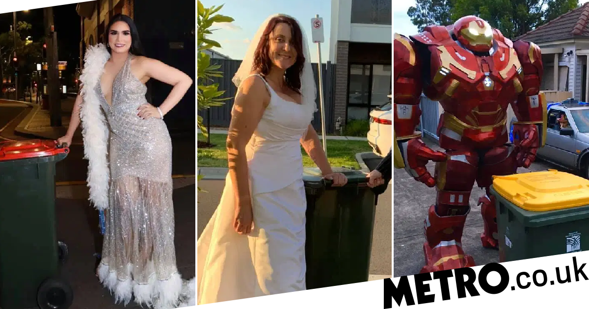 People in Australia are getting seriously dressed up to take out the bins