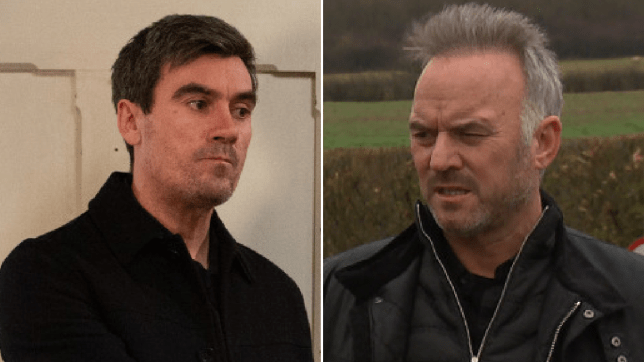 Cain Dingle and DI Malone in Emmerdale