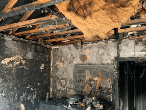 Couple left homeless during lockdown after fire destroys house