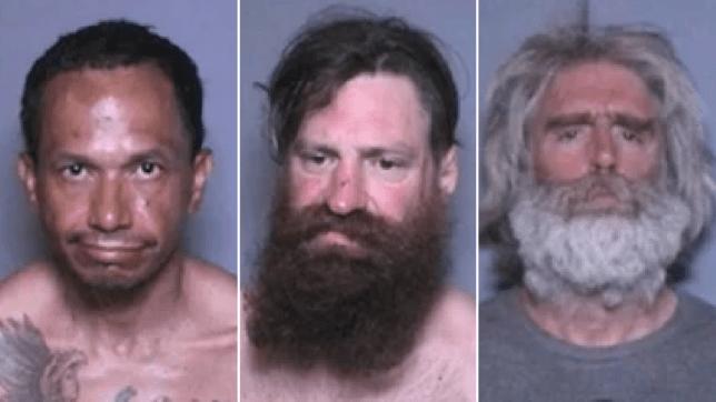 Mugshots of three pedophiles