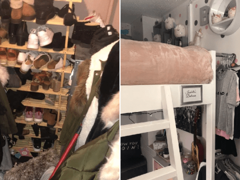 Mum turns cupboard into dreamy two-storey bedroom for her stepdaughter – for less than £500