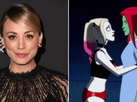 Kaley Cuoco confirms Harley Quinn and Poison Ivy same-sex romance with crude joke