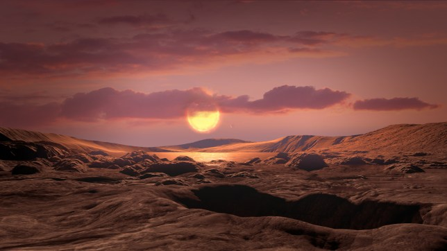 An artist's impression of the surface of Kepler-1649c (Nasa)