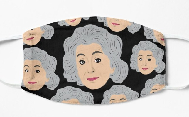 Face mask featuring Evelyn Plummer from Coronation Street
