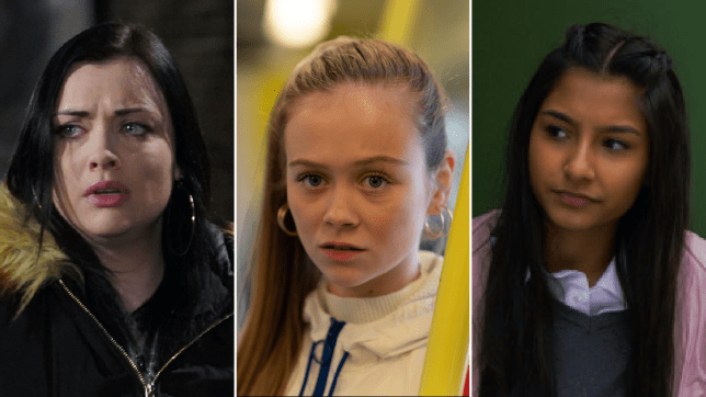 Whitney in EastEnders, Juliet in Hollyoaks and Asha in Coronation Street