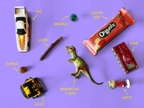 Photo series shows what kids keep in their pockets – including a credit card, seashells, and a car key