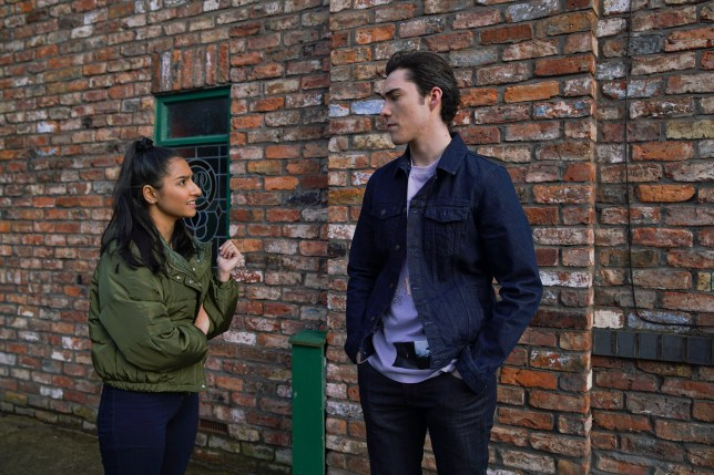 Asha lashes out at Corey in Coronation Street