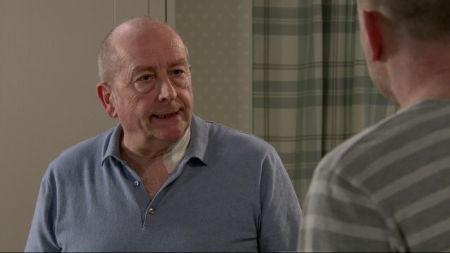 Geoff is angry in Coronation Street
