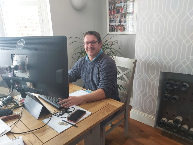 kevin wither working from home for Peldon Rose during lockdown