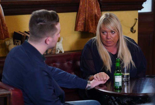 Callum and Sharon in EastEnders