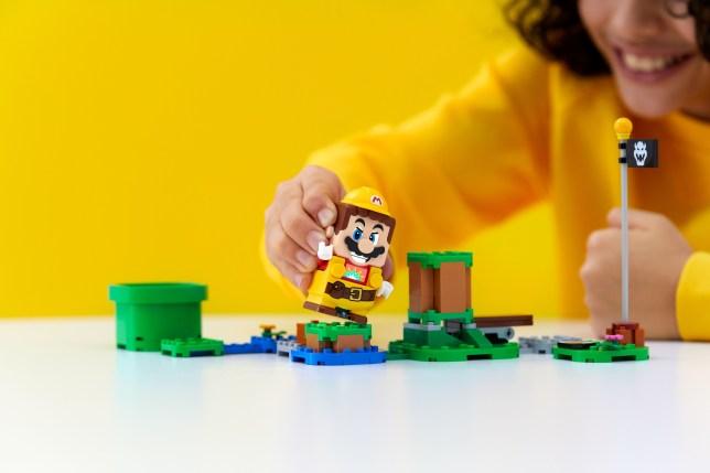 Lego Builder Mario