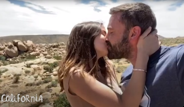 Ben Affleck and Ana de Armes kiss in Resident music video