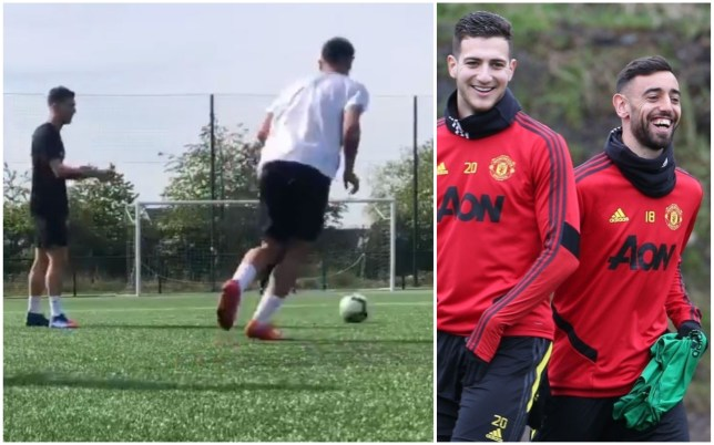 Bruno Fernandes and Diogo Dalot are gearing up for Manchester United's Premier League restart