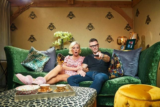 denise van outen and her partner on celebrity gogglebox