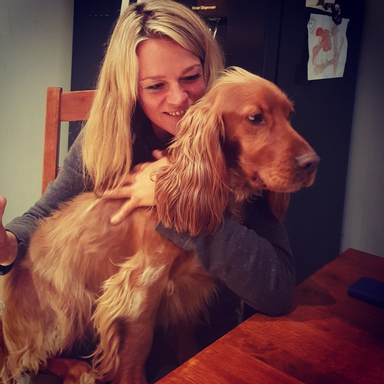 Claire and dog