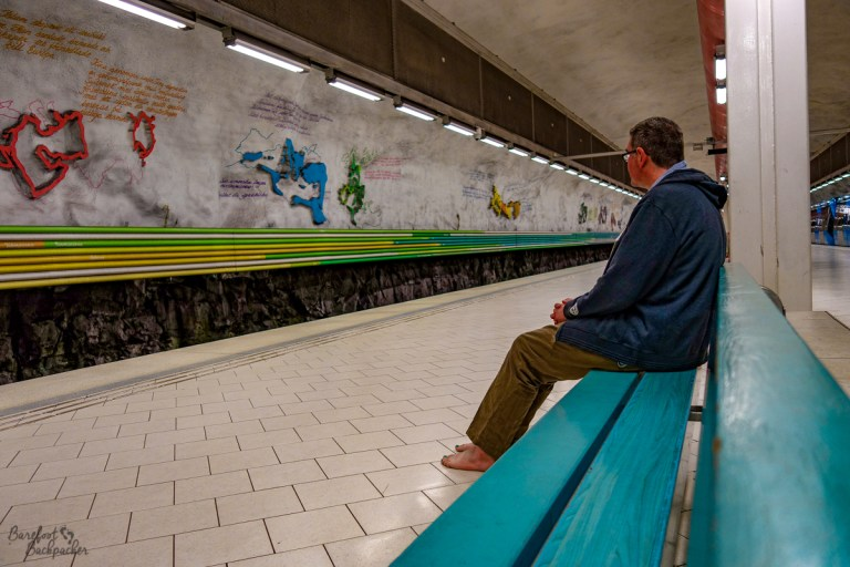 Ian in Rissne Metro-Station in Stockholm