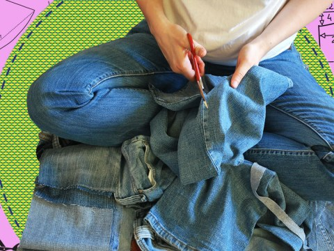 How to cut your jeans into shorts