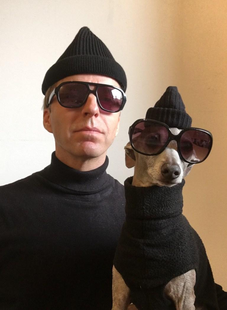 Erik and dog