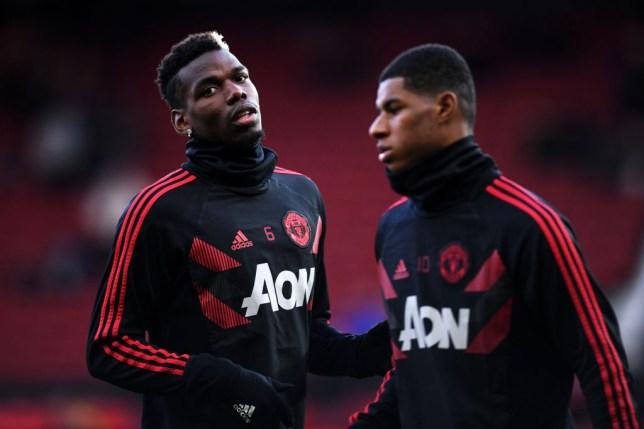 Manchester United stars Paul Pogba and Marcus Rashford