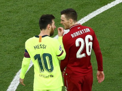 Andy Robertson regrets 'disrespecting' Barcelona star Lionel Messi in Liverpool's Champions League win