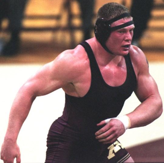 Brock Lesnar excelled in amateur wrestling for the University of Minnesota