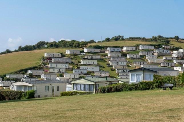 a caravan park in england