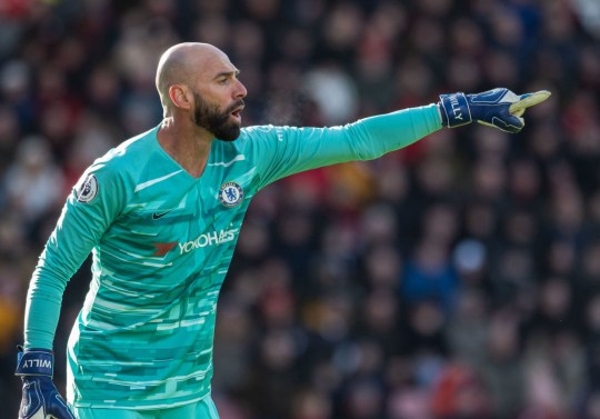 Willy Caballero signed a one-year contract extension last week and will remain with Chelsea next season