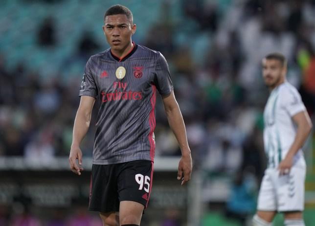Manchester United transfer target Carlos Vinicius during Benfica's Liga NOS clash with Vitoria