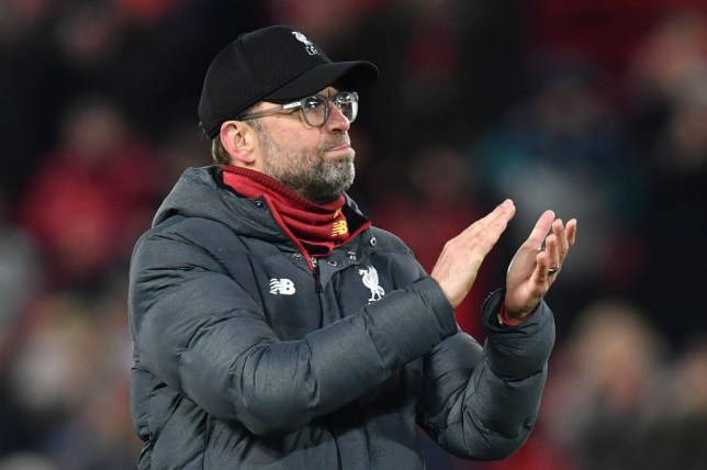 Liverpool's German manager Jurgen Klopp reacts at the final whistle during the UEFA Champions league Round of 16 second leg football match between Liverpool and Atletico Madrid at Anfield in Liverpool, north west England on March 11, 2020. (Photo by Paul ELLIS / AFP) (Photo by PAUL ELLIS/AFP via Getty Images)