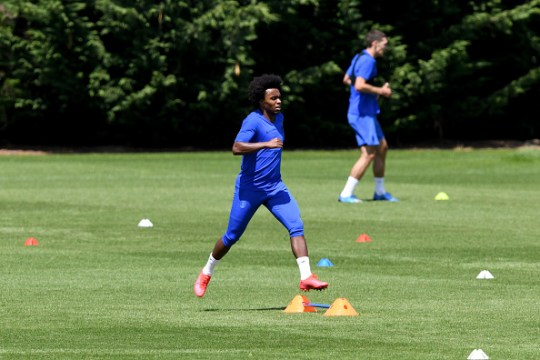 Willian returned to training earlier this week along with the majority of Chelsea's first team squad