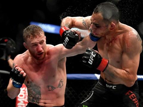 Khabib Nurmagomedov reacts to Justin Gaethje's stunning win over Tony Ferguson at UFC 249
