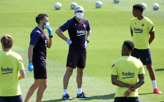 Barcelona players return to training following Coronavirus