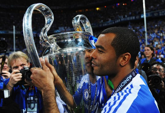 Ashley Cole won the Champions League with Chelsea in 2012